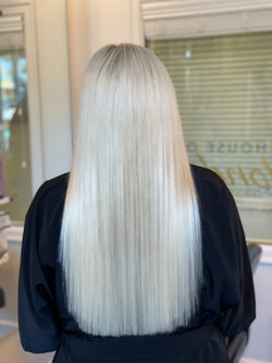 destiny blonde hair straight