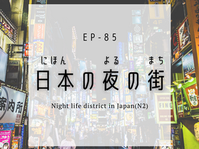 EP-85 日本の夜の街 Night life district in Japan(N2)
