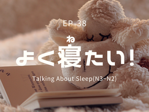 EP-38 よく寝たい! Talking About Sleep(N3~N2)