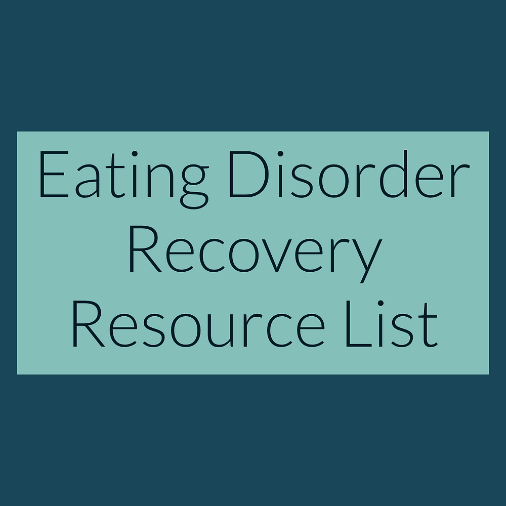 Eating Disorder Resource List