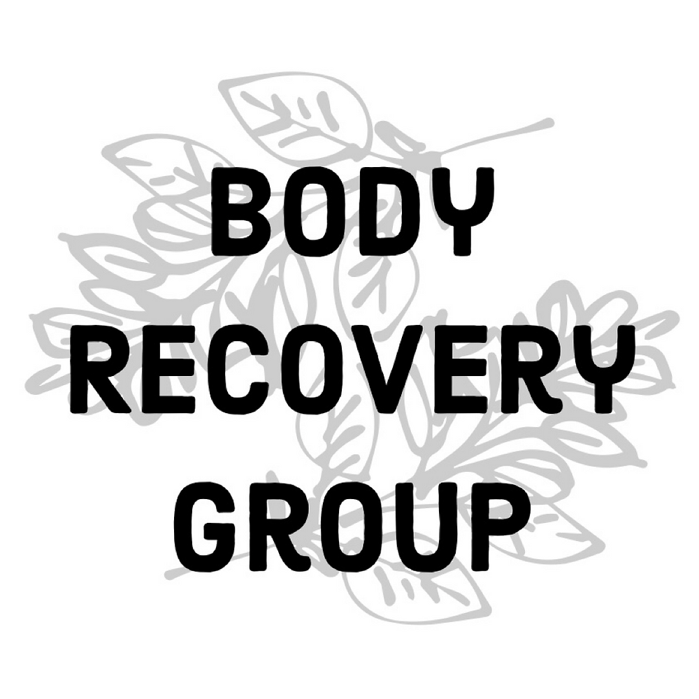 The BRG logo, which is two branches of light grey leaves under the words Body Recovery Group.