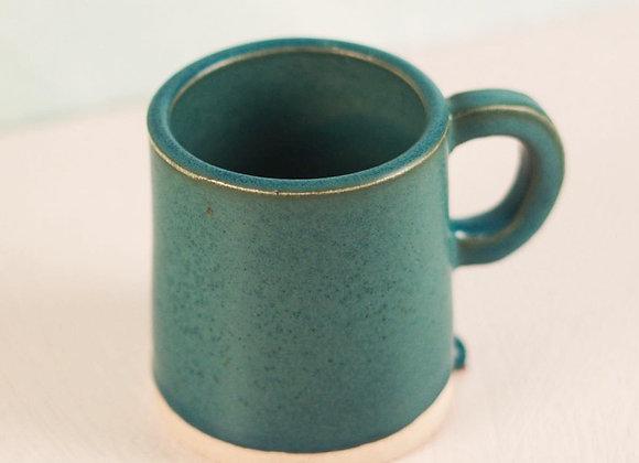 Blue Jean Angled Mug