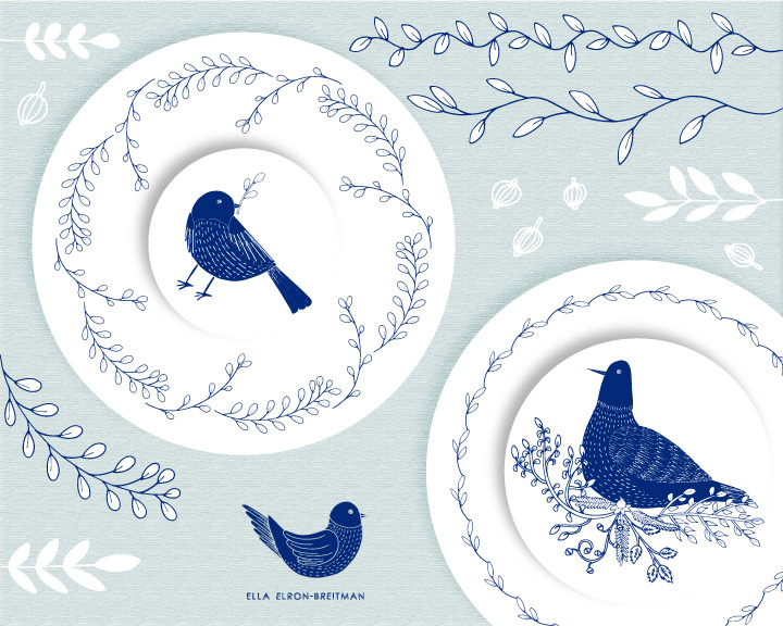 ELLA_ELRON-BREITMAN_birds decorated plat