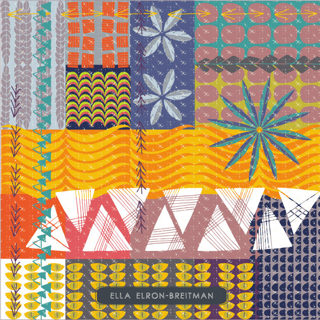 My tribal collage pattern in the Print & Pattern blog
