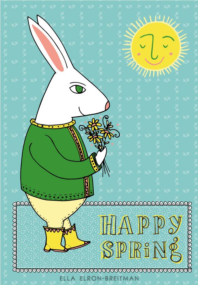 FolkArt Spring Card Bunny