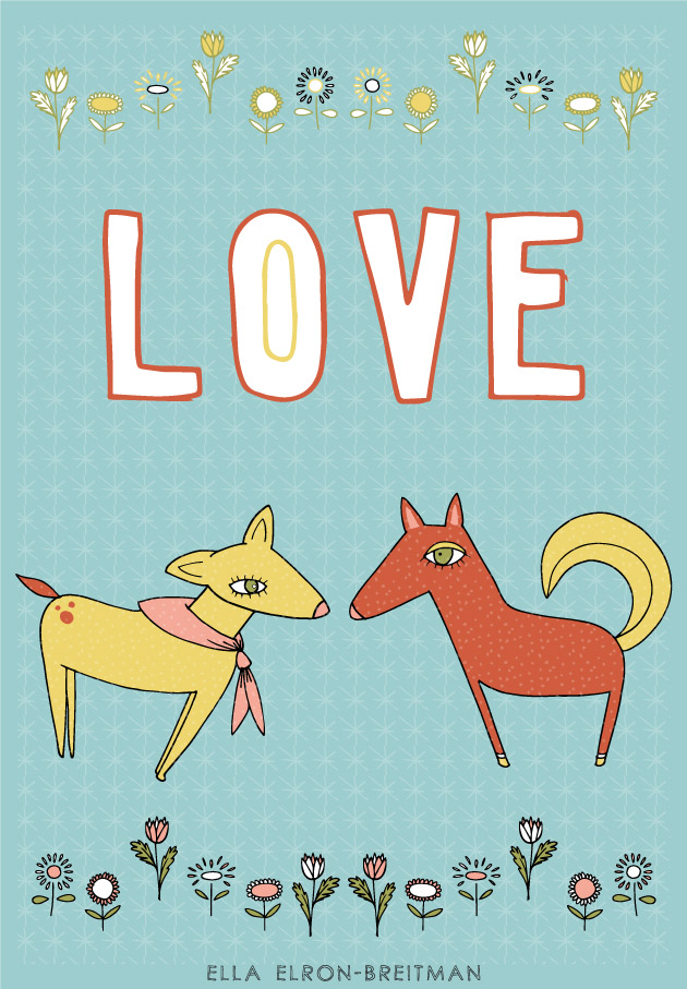 FolkArt Animals Card Love