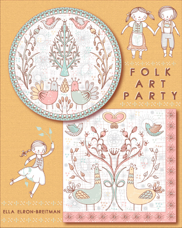 Folk Art Party Paper