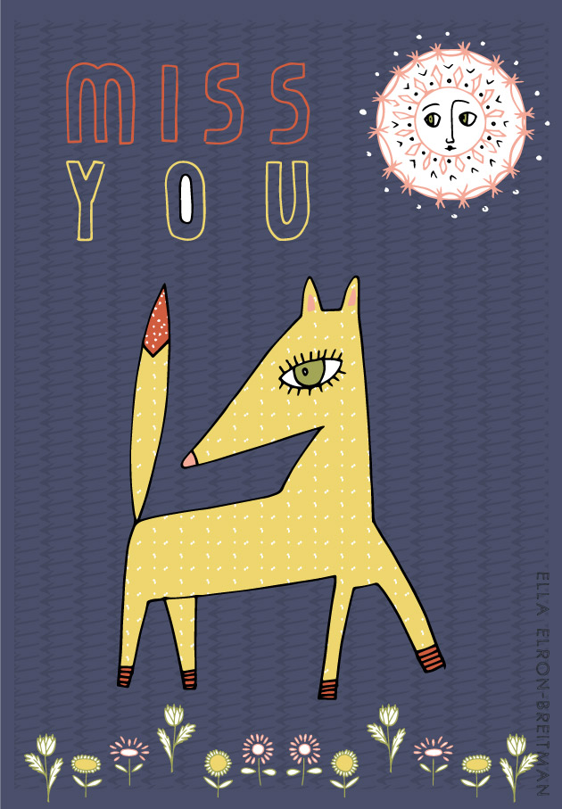 FolkArt Animals Card Miss You