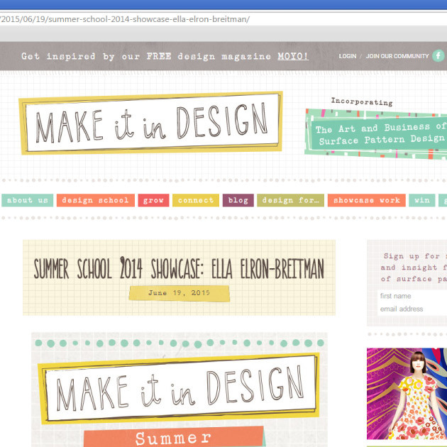 My patterns and illustrations are featured on the Make it in Design blog