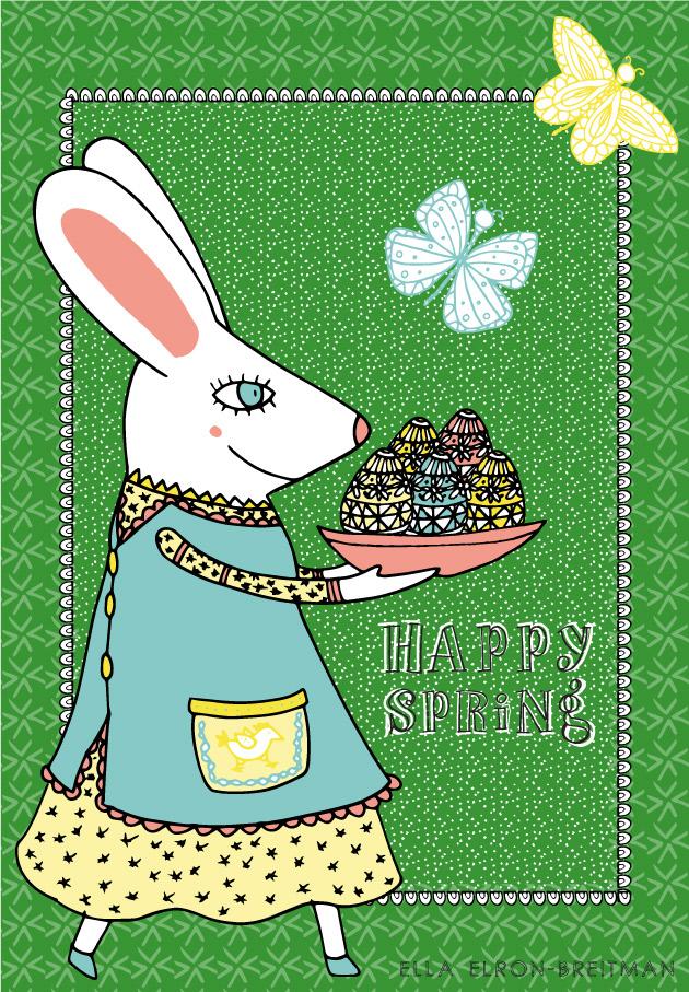 FolkArt Spring Card She Bunny