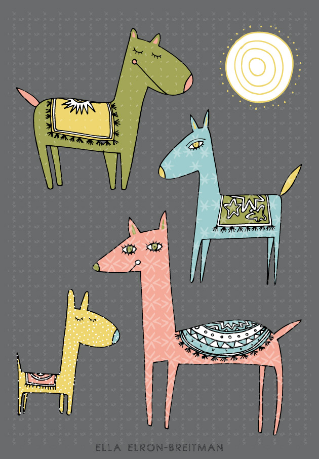 FolkArt Animals Card Sympathy