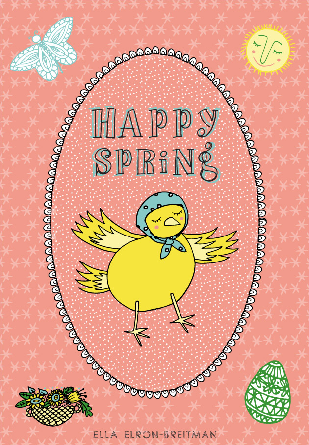 FolkArt Spring Card Chick