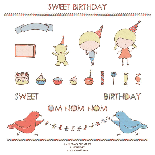 Sweet Birthday Clip Art Set