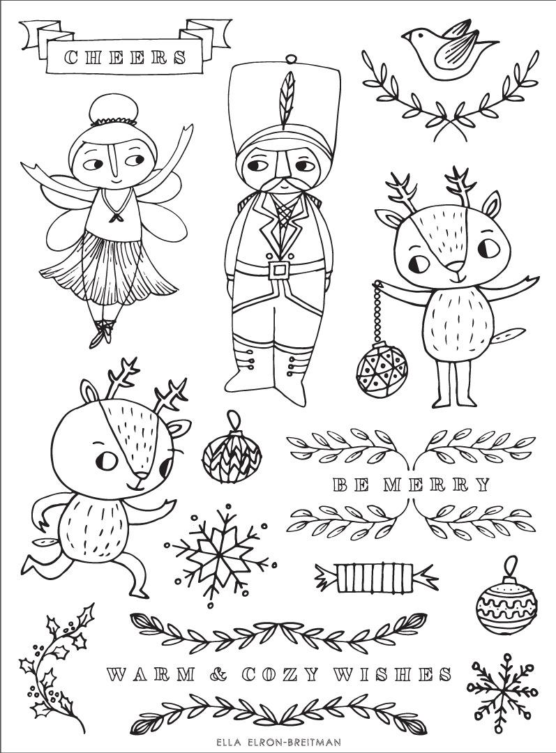 ELLA_ELRON-BREITMAN_ChristmasRubberStamp