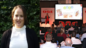 OSI Operations Director and European Head of Sustainability Claire Donoghue presents on changing behaviors in sustainability at the European Supplier Summit in 2019