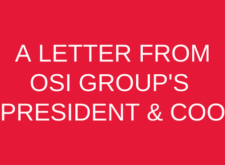 A Letter from OSI's President & COO