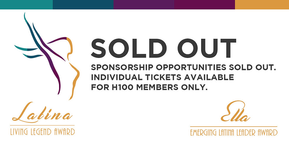 October 10th 5:30pm Latina Living Legend Awards - Sold Out!