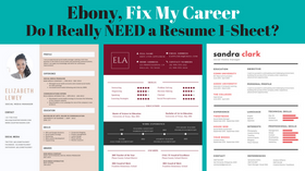Ebony FMC: Do You Really Need a Resume 1-Sheet