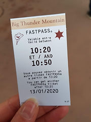 Big Thunder Mountain Fastpass Ticket | The Organised Explorers