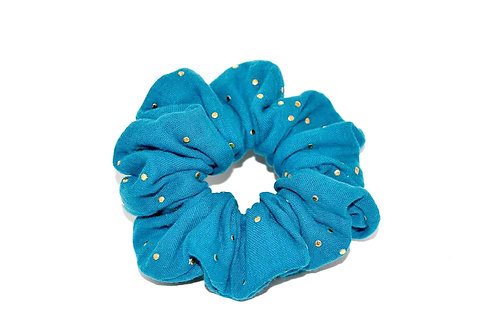 Double gaze bleu turquoise