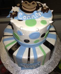 Babyshower_Cake_monkey_brown_blue_green.