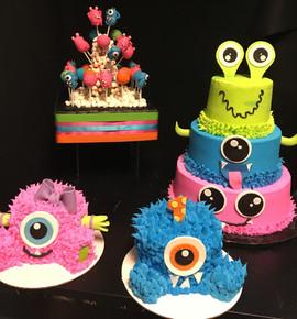 Kids_Cake_monster_babies_pink_blue_green