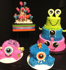 Kids_Cake_monster_babies_pink_blue_green