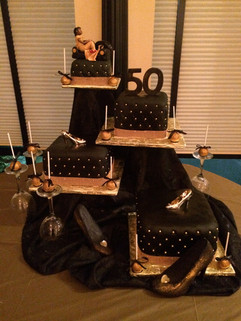 Accessories_Cake_black_gold_shoes_quilt.
