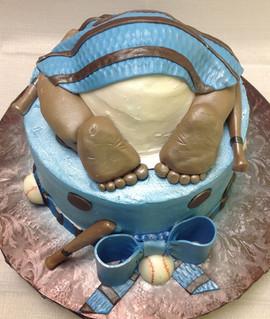Babyshower_Cake_baby_bottom_blue_brown.J