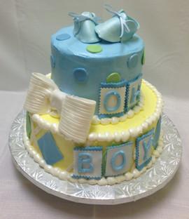 Babyshower_Cake_blue_yellow_green_bow_bo