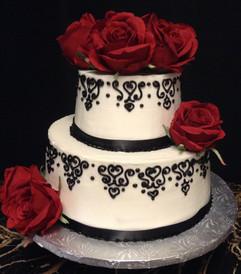 Woman_Birthday_Cake_red_black_filigree_r