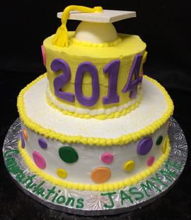 Graduation_Cake_2014_polka_dots.JPG
