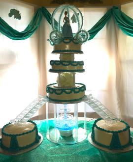 Kids_Cake_quinceanera_turquoise_white_ca