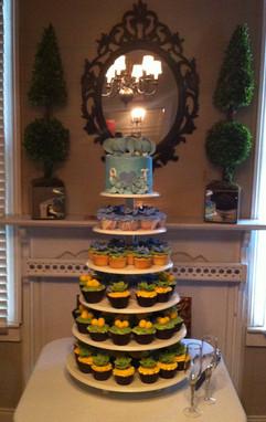Cupcakes_Wedding_green_yellow_blue_eleph