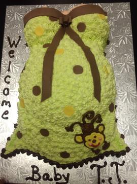 Babyshower_Cake_baby_bump_monkey_green_b