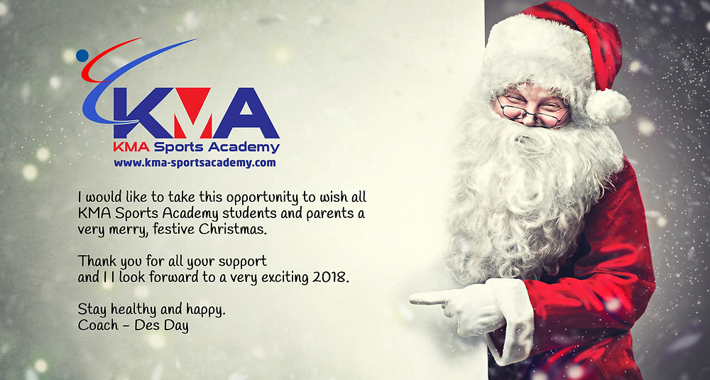 Happy Christmas from KMA Sports Academy.