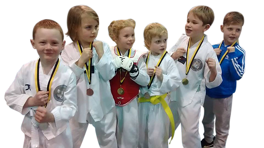 Children from he KMA Sports Academey proudley showing off their medals