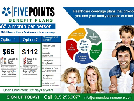 $65 a month PPO Medical Plan