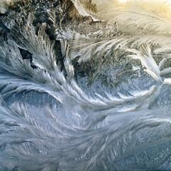 Frost Flowing in Sunlight