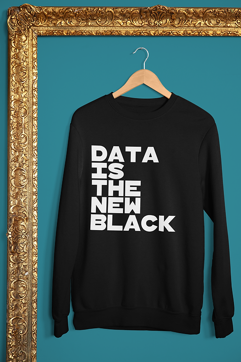 Data Is The New Black Long Sleeve