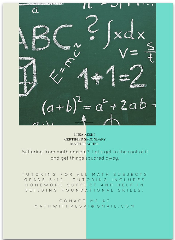 Suffering from math anxiety? Get to the root of it and get things squared away!
