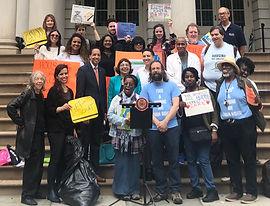 jfk city hall homeless safety net activi