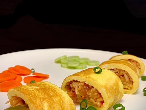 Puffy Egg Noodles Roll