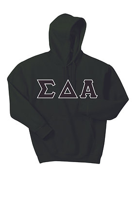Sigma Delta Alpha Forest Green Hoody