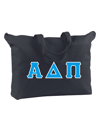 Alpha Delta Pi  Canvas Zippered Book Tote Bag