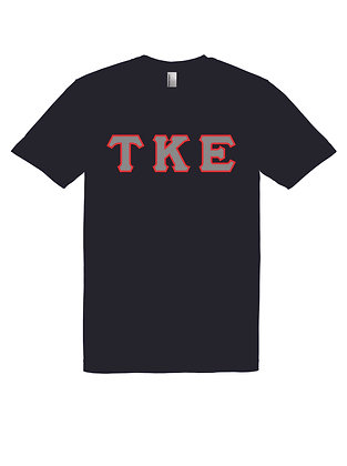 Tau Kappa Epsilon Black Shirt American Apparel