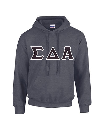 Sigma Delta Alpha Dark Heather Grey Hoodie