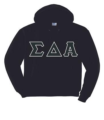 Sigma Delta Alpha Black Hoody Pullover