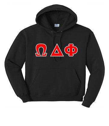 Omega Delta Phi Hoody Black