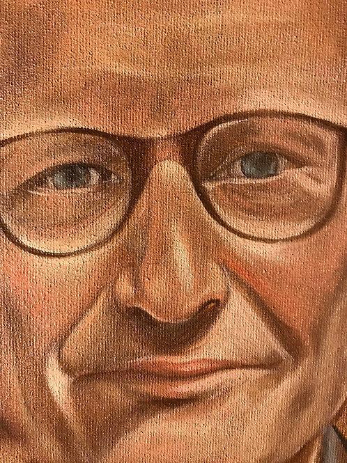 Portrait in oilpaint
